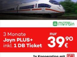 Gratis: Bahnticket von Mytrain zum Joyn-Plus-Abo für drei Monate