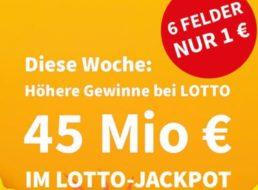 Lotto: Erhöhter Jackpot und sechs Felder für ein Euro