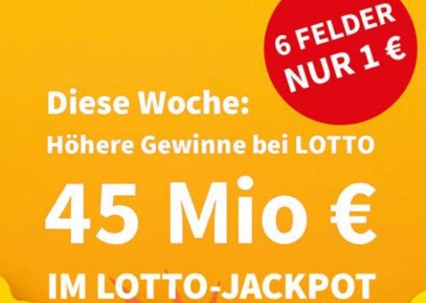 Lotto: 6 Felder für 1 Euro und erhöhter Jackpot