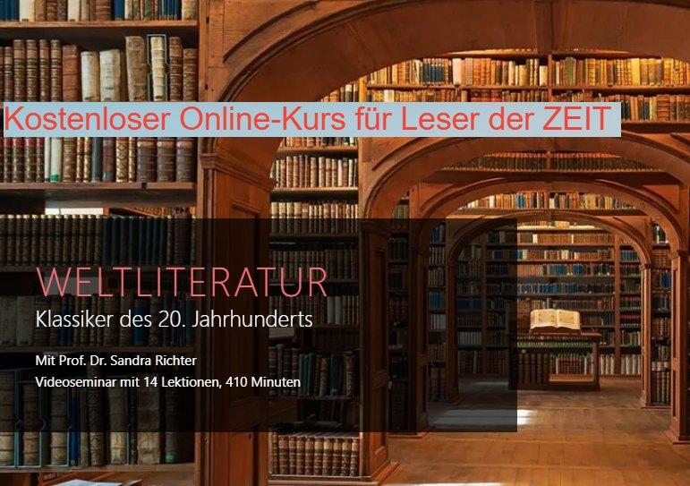 """Gratis: Onlinekurs Weltliteratur bei der """"Zeit Akademie"""" zum Nulltarif"""
