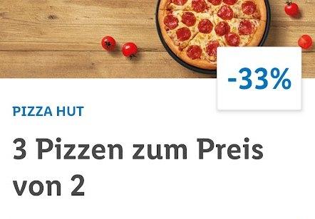 """Lidl Plus: Drei Pizzen zum Preis von zweien bei """"Pizza Hut"""""""
