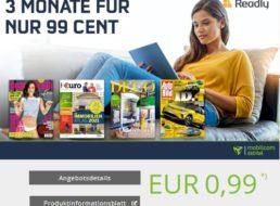 Readly: Drei Monate Zeitschriftenflatrate für pauschal 99 Cent