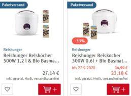 Rewe: Reiskocher-Bundle von Reishunger für 23,18 Euro frei Haus