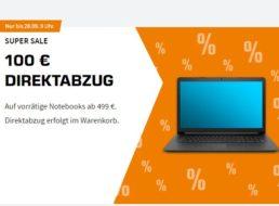 Saturn: 100 Euro Notebook-Rabatt auf ausgewählte Modelle ab 486,42 Euro