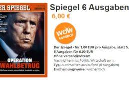 Der Spiegel: Sechs Ausgaben für 6 Euro frei Haus, automatisches Ende
