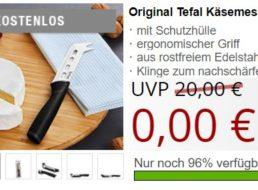 Gratis: Tefal-Käsemesser bei Druckerzubehoer zum Nulltarif