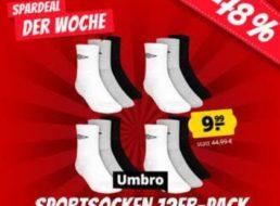Sportspar: 12er-Pack Umbro-Socken für 9,99 Euro plus Versand