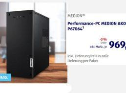 Aldi-PC: Medion Akoya P67064 mit TByte-SSD für 969,03 Euro