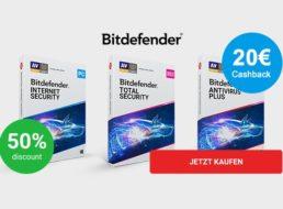 Gratis: Bitdefender Antivirus Plus effektiv kostenlos dank Cashback
