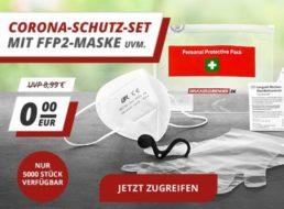 Druckerzubehoer.de: Corona-Schutz-Set mit FFP2-Maske und Hygienehaken