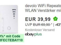 Ebay: WLAN-Repeater von Devolo als B-Ware für 35,99 Euro frei Haus