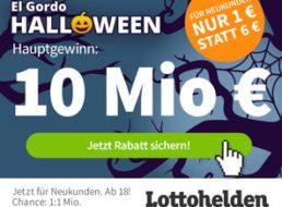 El Gordo: Halloween-Auslosung von 65 Millionen Euro, jedes 3. Los gewinnt