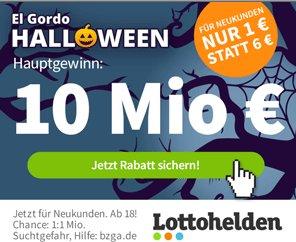 El Gordo: Halloween-Jackpot mit 10 Millionen Euro - Lose ab 1 Euro