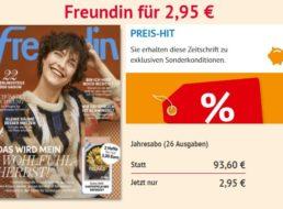 Freundin: Jahresabo für 2,95 statt 93,60 Euro