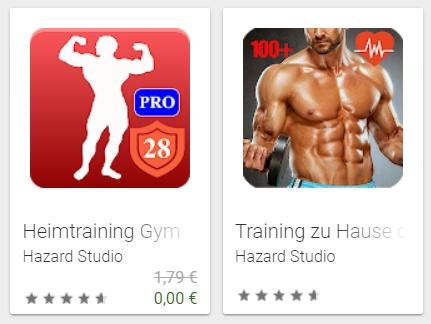 """Gratis: App """"Heimtraining Gym Pro"""" im Playstore von Google"""