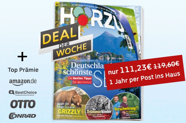 Hörzu: Jahresabo für 111,23 Euro mit Otto-Gutschein über 110 Euro