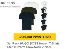 Ebay: Dreierpack T-Shirts von Hugo Boss für 31,96 Euro frei Haus