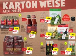 Aldi-Süd: 10er-Pack Nudeln für 3,90 Euro und weitere Karton-Aktionspreise