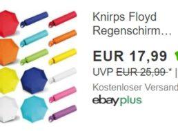 Ebay: Knirps Floyd Regenschirm für 17,99 Euro frei Haus