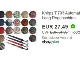 """Ebay: """"Knirps T.703"""" Schirm mit langem Stock für 27,49 Euro frei Haus"""