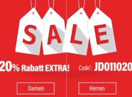 Jeans Direct: 20 Prozent Rabatt auf bereits reduzierte Markenjeans