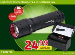 Völkner: Taschenlampe Ledlenser T7.2 für 24,99 Euro frei Haus
