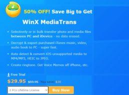 """Exklusiv: """"WinX MediaTrans"""" mit 50 Prozent Rabatt für kurze Zeit"""