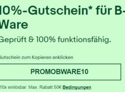 Ebay: 10 Prozent Rabatt auf B-Ware für wenige Tage