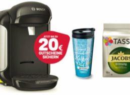 Ebay: Tassimo Vivy 2 mit Gutscheinen und Thermobecher für 29,99 Euro