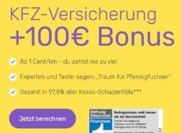 Gratis: Gutscheine über 100 Euro zur monatlich kündbaren KfZ-Versicherung