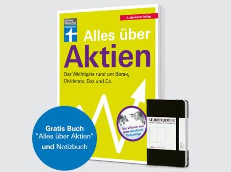 """Gratis: Buch """"Alles über Aktien"""" zum Probeabo der Finanztest für 30 Euro"""