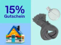 Ebay: 15 Prozent Rabatt auf ausgewählte Geschenke
