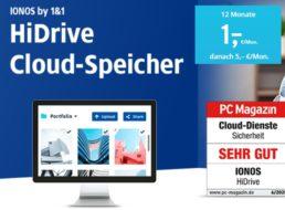 Ionos: 1 TByte Cloudspeicher auf deutschen Servern für 1 Euro / Monat