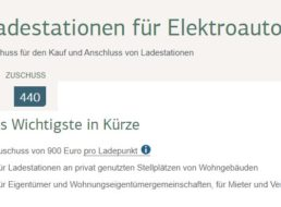 KfW: 900 Euro Zuschuss für KfZ-Ladestation / Wallbox ab sofort