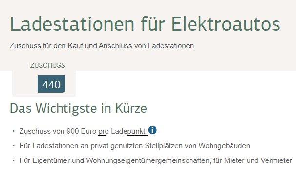 KfW: 900 Euro Zuschuss für KfZ-Ladestationen / Wallbox ab sofort