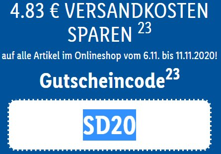 Lidl: Gratis-Versand ab 59 Euro Warenwert