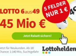 Lotto: Rekord-Jackpot von 45 Millionen Euro zum Black Friday