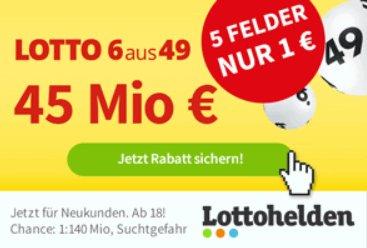 Zwangsausschüttung: Lotto-Jackpot von 45 Millionen Euro wird heute verteilt