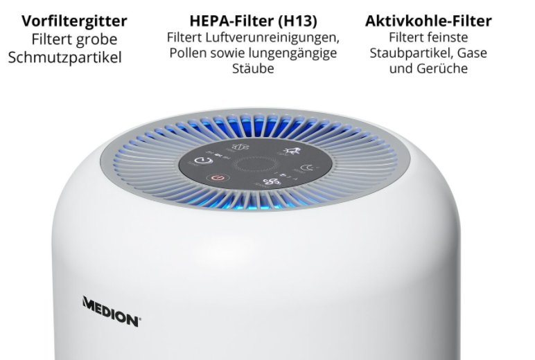 Ebay: Luftreiniger mit Hepa-Filter für 69 Euro frei Haus