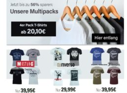 Jeans Direct: Viererpack Markenshirts ab 20,10 Euro