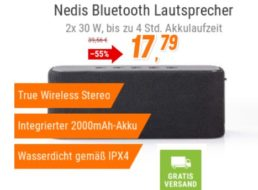 NBB: Outdoor-Bluetooth-Lautsprecher für 17,79 Euro frei Haus