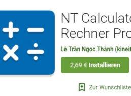 "Gratis-App: ""NT Calculator Pro"" für 0 statt 2,69 Euro"