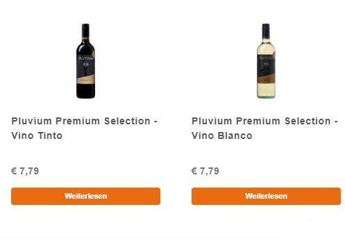 Exklusiv: 12 Flaschen Pluvium, frei wählbar, für 39,48 Euro frei Haus