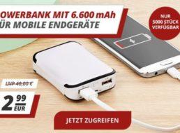 Druckerzubehoer.de: Powerbank mit 6600 mAh für 2,99 Euro