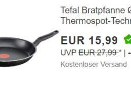 Ebay: Tefal-Pfanne mit Thermo-Spot für 15,99 Euro frei Haus
