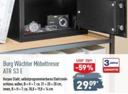 """Aldi: Möbeltresor """"Burg Wächter  ATR S3 E"""" für 29,09 Euro"""