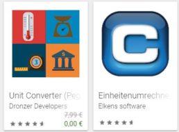 """Gratis: App """"Unit Converter (Pega Pro) – Premium"""" für 0 Euro"""