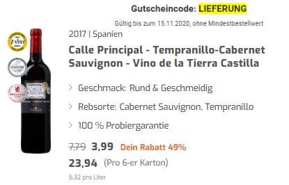 Weinvorteil: Gratis-Versand ohne Mindestbestellwert