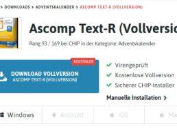 Gratis: Text-Scanner Ascomp Text-R heute zum Nulltarif