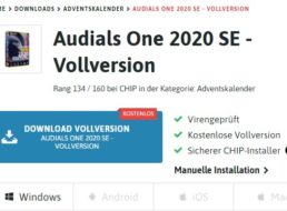 "Gratis: ""Audials One 2020 SE"" beim Chip-Adventskalender gratis"